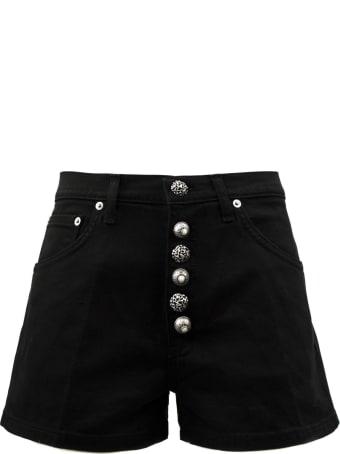 Dondup Black Cotton Shorts