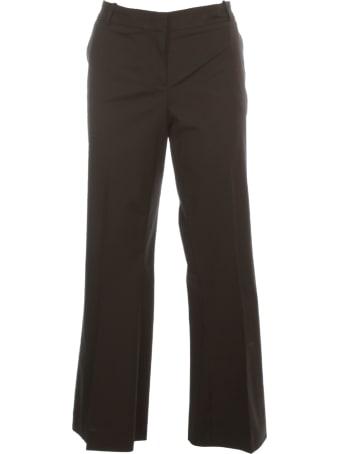 Kiltie & Co. Florette Flared Cropped Pants Cotton Stretch