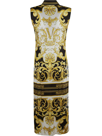 Versace Signature Pattern Printed Shirt Dress