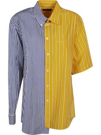 Balenciaga Asymmetric Colourblock Stripe Shirt