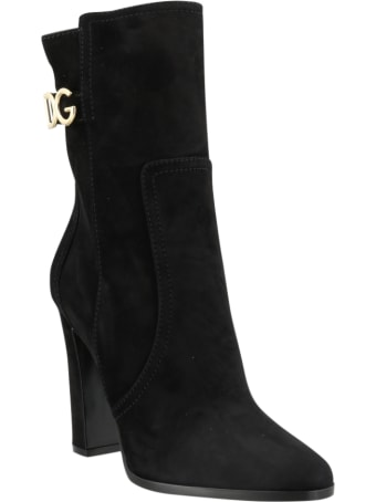 Dolce & Gabbana Suede Ankle Boots