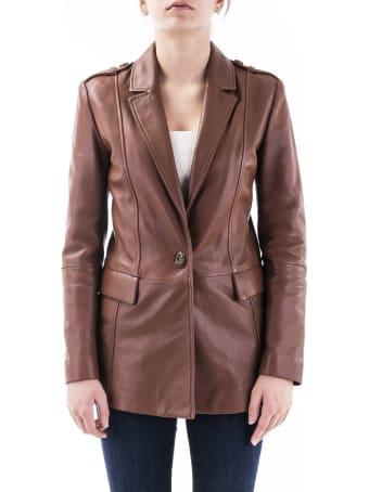 Trussardi Leather Blazer