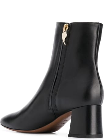 L'Autre Chose Black Leather Ankle Boots