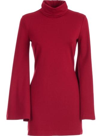 Sara Battaglia Dress L/s High Neck Pencil Jersey