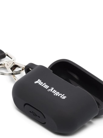 Palm Angels Black Logo Airpods Pro Case