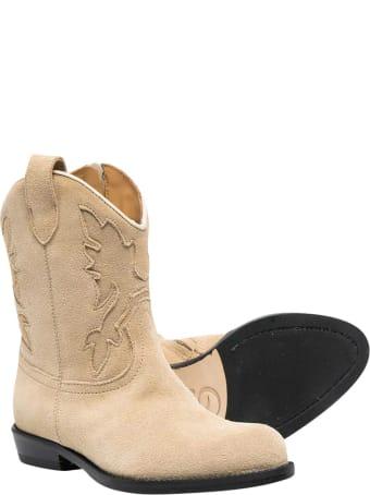 Gallucci Beige Cowboy Boots