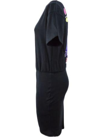 GCDS Black Cotton Dress