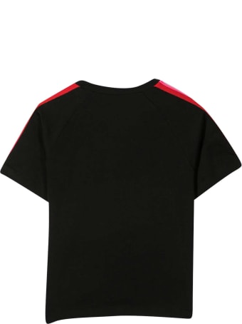 Fendi Black T-shirt With Multicolor Applications