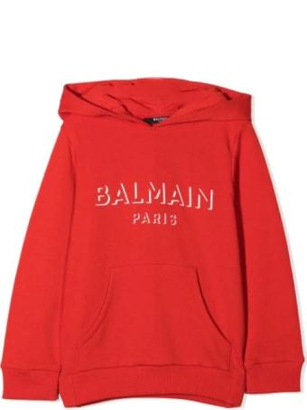 Balmain Red Hoodie