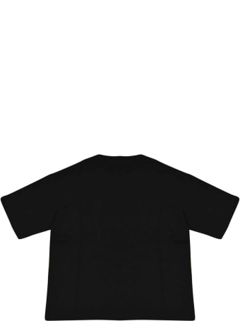 Fendi Black T-shirt With Logo Trama