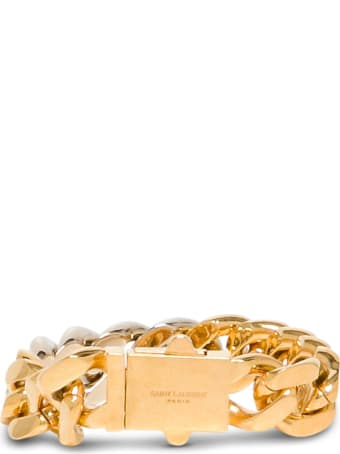 Saint Laurent Chain Bracelet In Golden Brass