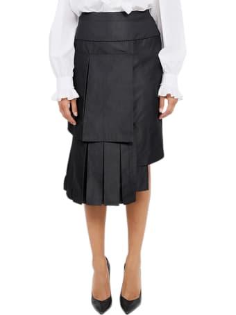 Vìen Black Panelled Skirt