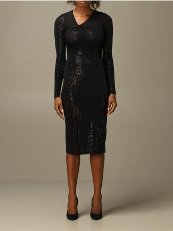 Just Cavalli Dress Just Cavalli Jersey Dress With All-over Micro Mirrors