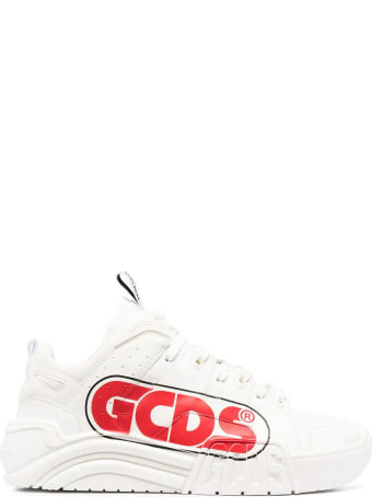 GCDS White Transparent Low-top Sneakers