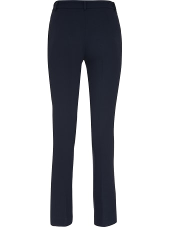 L'Autre Chose Stretch Wool Tailored Trousers