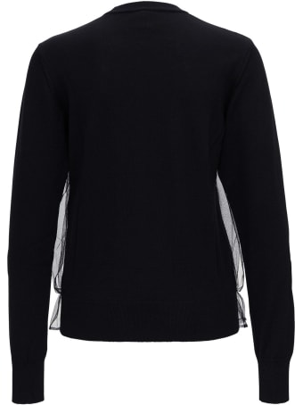 Noir Kei Ninomiya Wool And Tulle Sweater