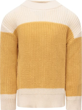 TinyCottons Ivory And Yellow  Sweater