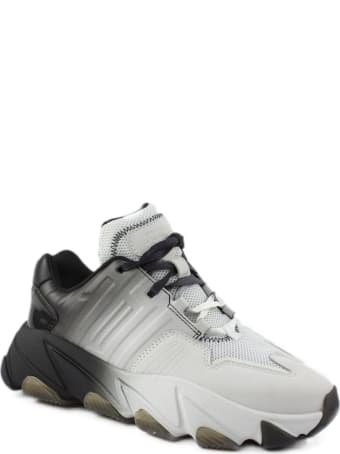Ash White And Black Extasi Sneakers