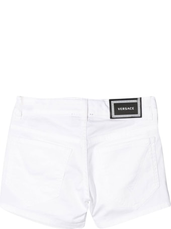 Young Versace Denim Shorts