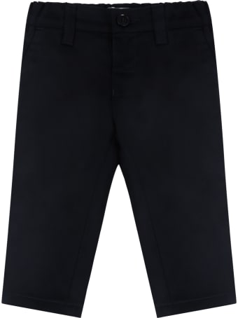 Armani Collezioni Blue Trouser For Babyboy With Iconic Eagle