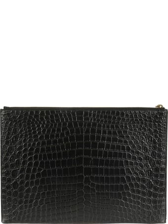 Saint Laurent Logo Plaque Clutch