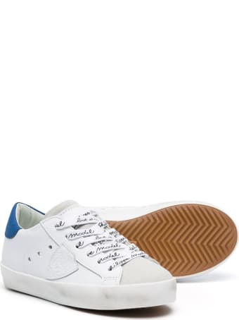 Philippe Model White Leather Paris Low Jr Sneakers