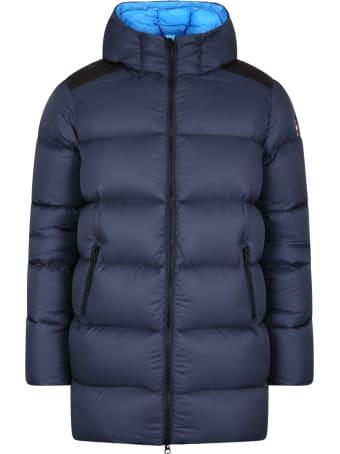 Colmar Blue Jacket For Kids With Logo
