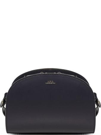 A.P.C. Half-moon Mini Leather Shoulder Bag