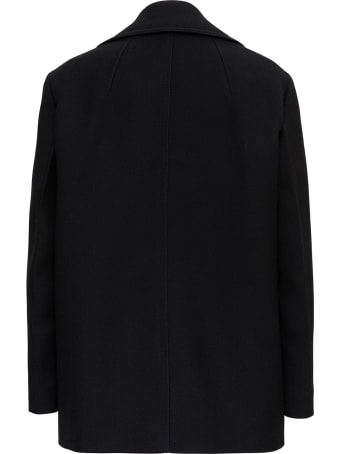 Patou Double Breasted Blazer With Side Inlay