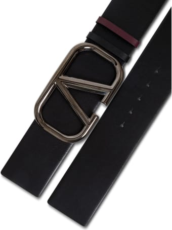 Valentino Garavani Vlogo High Reversible Leather Belt With Buckle