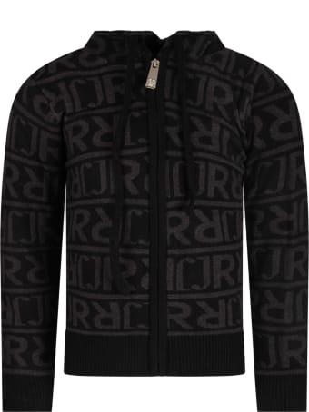 Richmond Black Boy Sweatshirt With Grey Logo