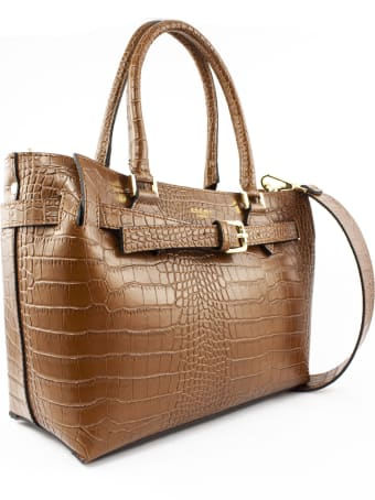 Avenue 67 Elbaxs Bag In Brown Leather