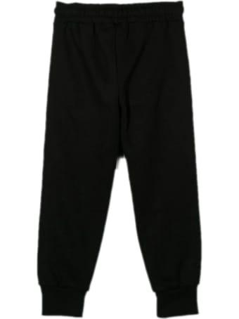 MSGM Black Cotton Track Pants
