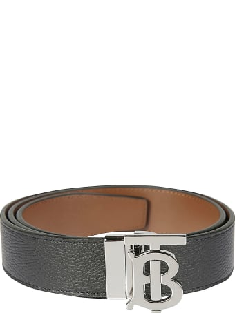 Burberry Plaque Grainy Leather Belt