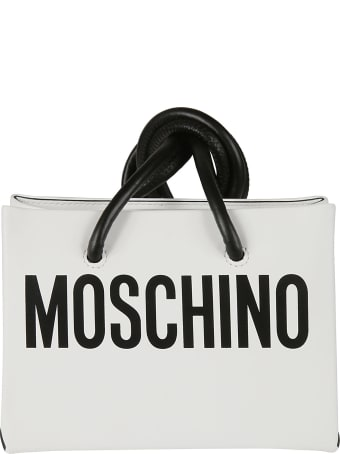 Moschino Logo Print Shoulder Bag