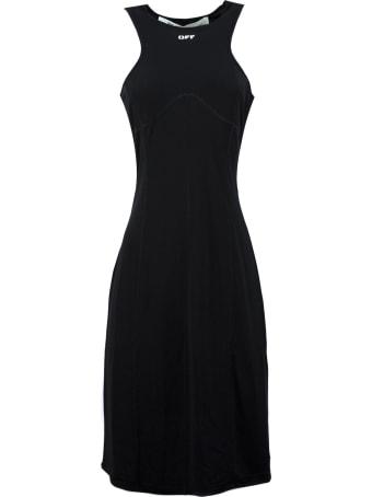 Off-White Sleeveless Dress In Black