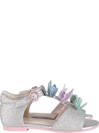 Sophia Webster Mini Silver ''riva Sandal Infant'' Sandals
