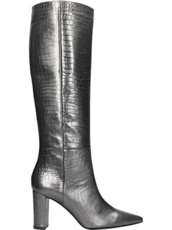 Marc Ellis Boots In Silver Leather