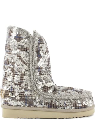 Mou Eskimo 24 In In Wool Plaid With Sequins
