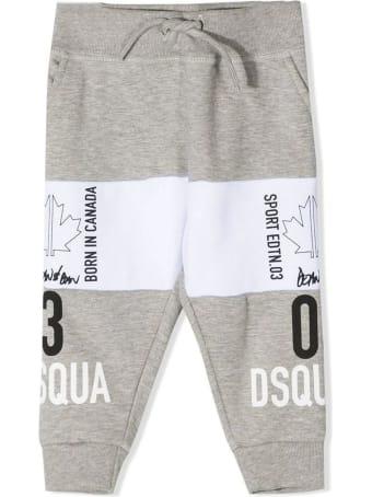 Dsquared2 Grey Cotton Sweatpants