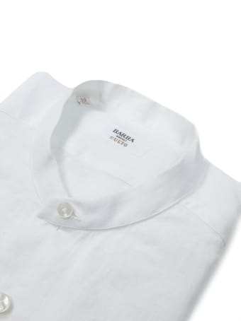 Barba Napoli White Cotton Shirt