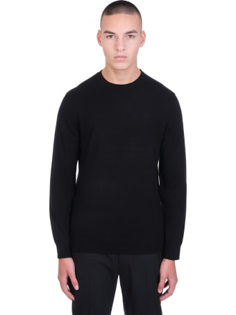 Theory Hilles Knitwear In Black Cashmere