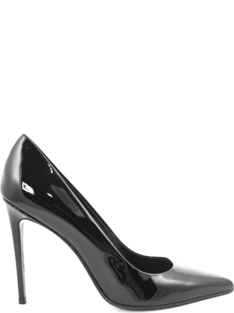 Aldo Castagna Elise Black Leather Pumps