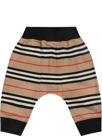 Burberry Striped Sweatpants For Baby Boy