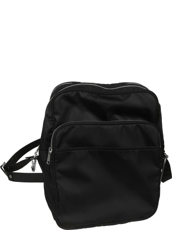 Black Comme des Garçons Zipped Shoulder Bag
