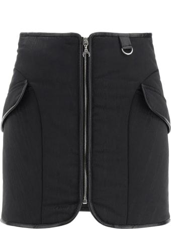 Marine Serre Mini Zip Skirt