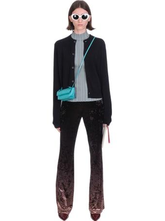 Acne Studios Keva Face Cardigan In Black Wool