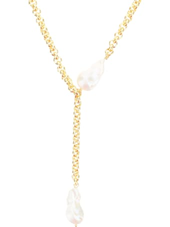 Timeless Pearly Chain Necklace With Pendant And Pearls