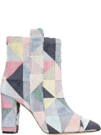 Bams Ankle Boots In Multicolor Fabric