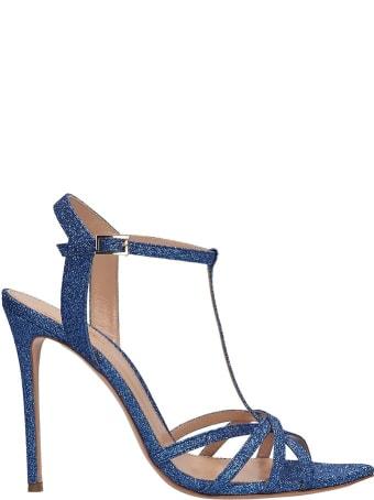 Lerre Blue Glitter Sandals